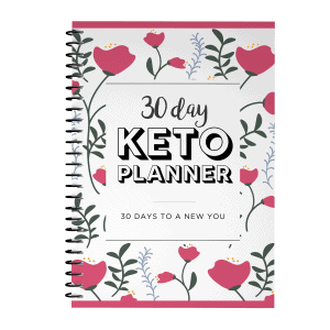 30 day keto planner pink flower cover