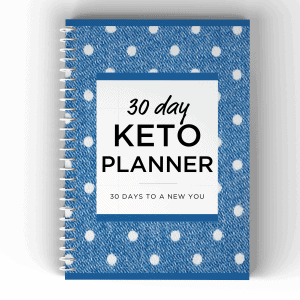 30 day keto planner blue cover