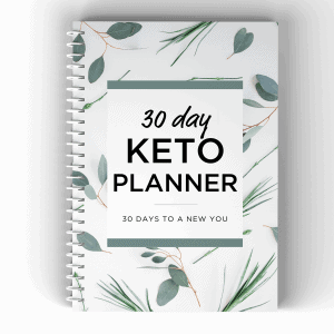 30 day keto planner leaf cover