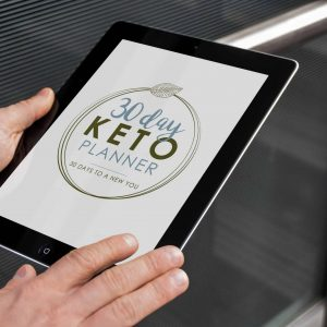 30 day keto planner tablet mock up neutral 1