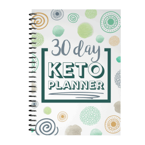 White Keto Planner Cover