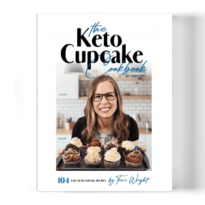 keto cupcake cookbook cover