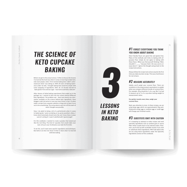 the science of keto cupcake baking inside page preview