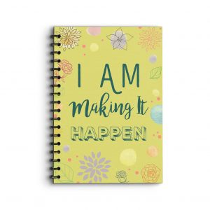 Deluxe Keto Planner 'I am making it happen' on the front cover