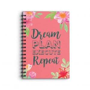 Deluxe Keto Planner Dream Plan Execute Repeat Quote on cover