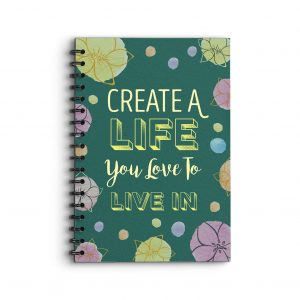 Deluxe Keto Planner Create a life you love to live in quote on cover