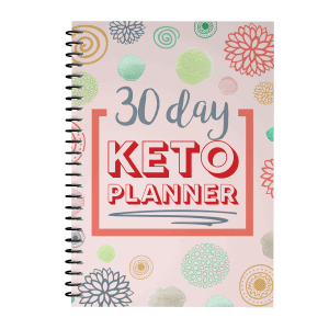 30 day keto planner pink cover