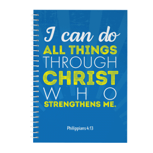 inspirational journal i can do all things through christ who strenthens me
